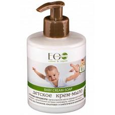 Детское крем-мыло  BABY CREAM SOAP  экстракт календулы, экстракт мальвы, масло зародышей пшеницы 300ml EcoLab